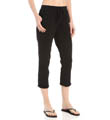 Michael Stars Drawstring Crop Pant with Roll Cuff 9573