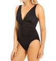 Miraclesuit Too Haute Plunge Neck Shirred One Piece Swimsuit 451169