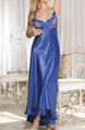 Shirley of Hollywood Charmeuse and Net Long Gown 20474