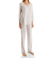 Carole Hochman Lace Long PJ Set 1891202