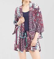 Josie by Natori Dynasty Scarf Happi Coat Z94002