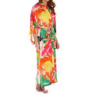 Natori Sleepwear Garbo Printed Silky Robe W74006