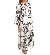 Natori Sleepwear Selis Printed Charmeuse Zip Caftan Z70274