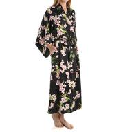 Natori Sleepwear Blossom Printed Charmeuse Robe Z74075