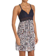 Josie by Natori Maden Floral Racerback Chemise with Lace Y98244